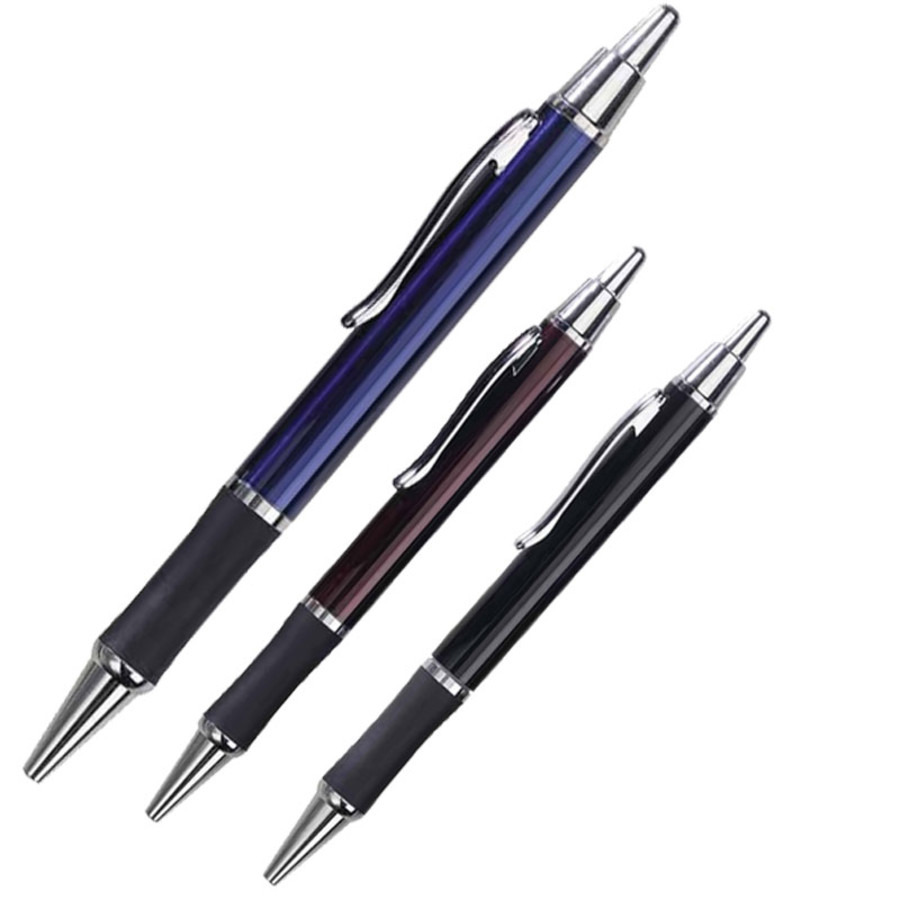 Printed Classic Metal Rubber Grip Pen