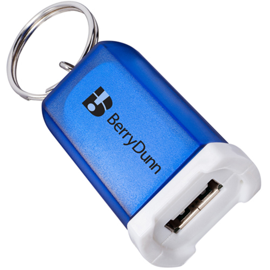 Printed Mini Car Charger with Key Ring