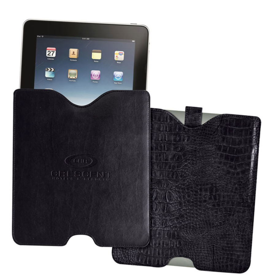 Logo Leather iPad Cases
