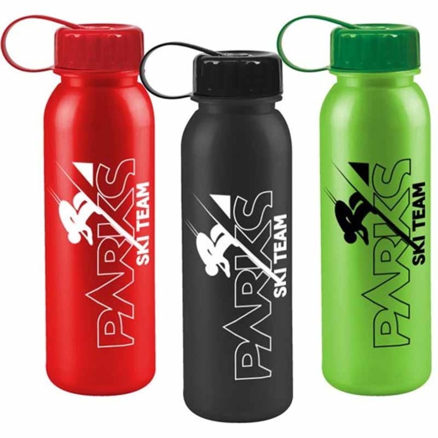 Promotional 24 oz. Metalike Bottle with Tethered Lid