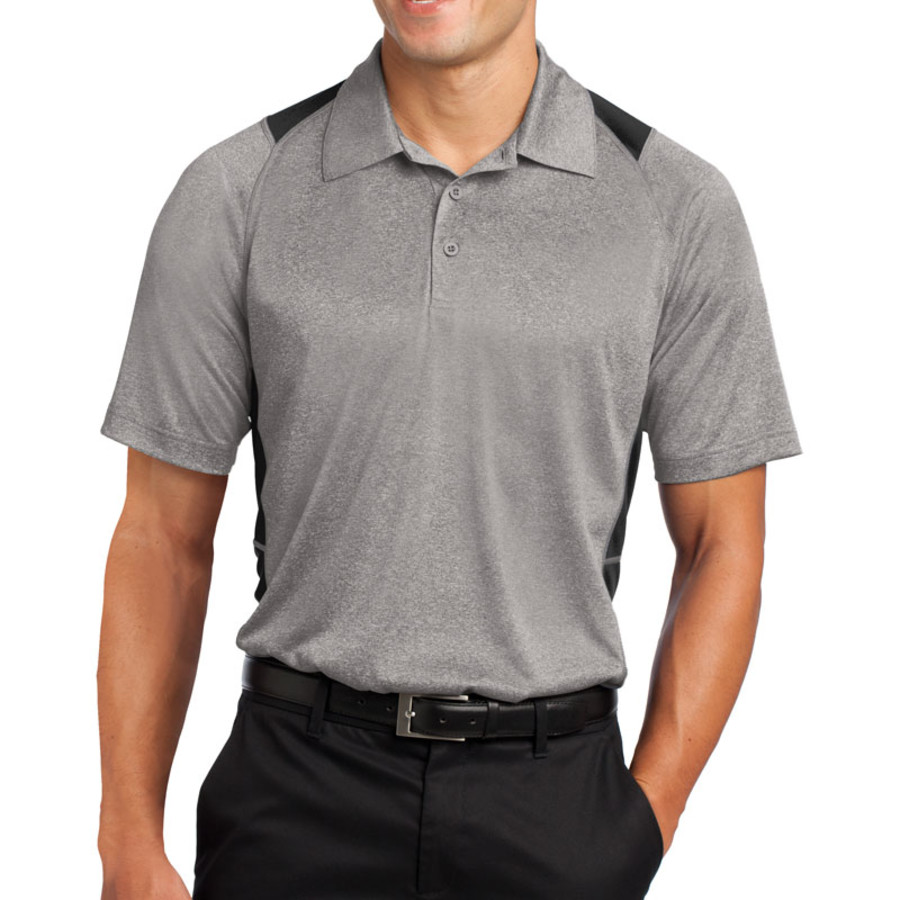Sport-Tek Heather Colorblock Contender Polo (Apparel)