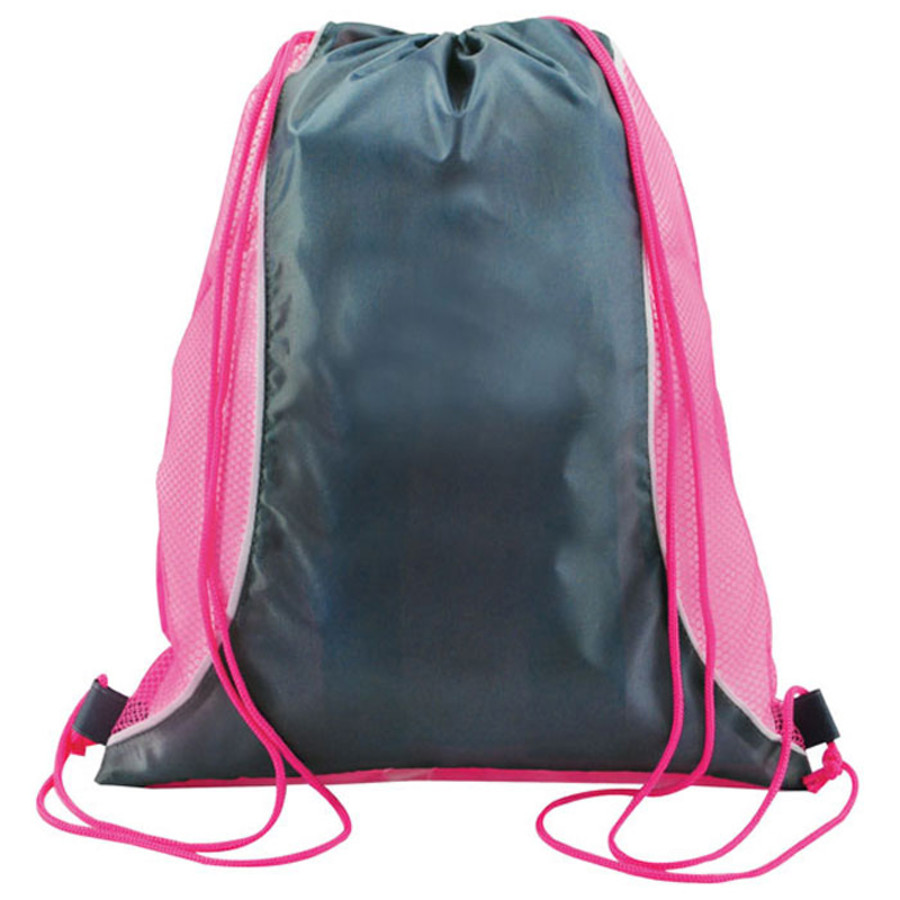 Two Tone Mesh Drawstring Bag