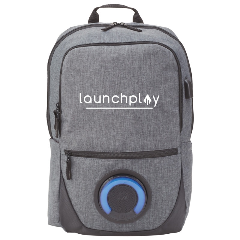 "Blare Bluetooth Speaker 15"" Computer Backpack"