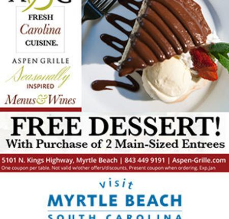 Aspen Grille - Free Dessert with purchase of any two main-sized entrees
