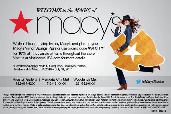 10% de descuento en el Pase de Ahorros de Macy's Savings Pass