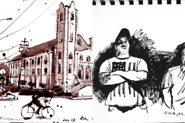 """This is Houston. Pages From My Sketchbook"" by Maksim Koloskov"