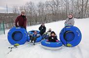 Winter tubing family