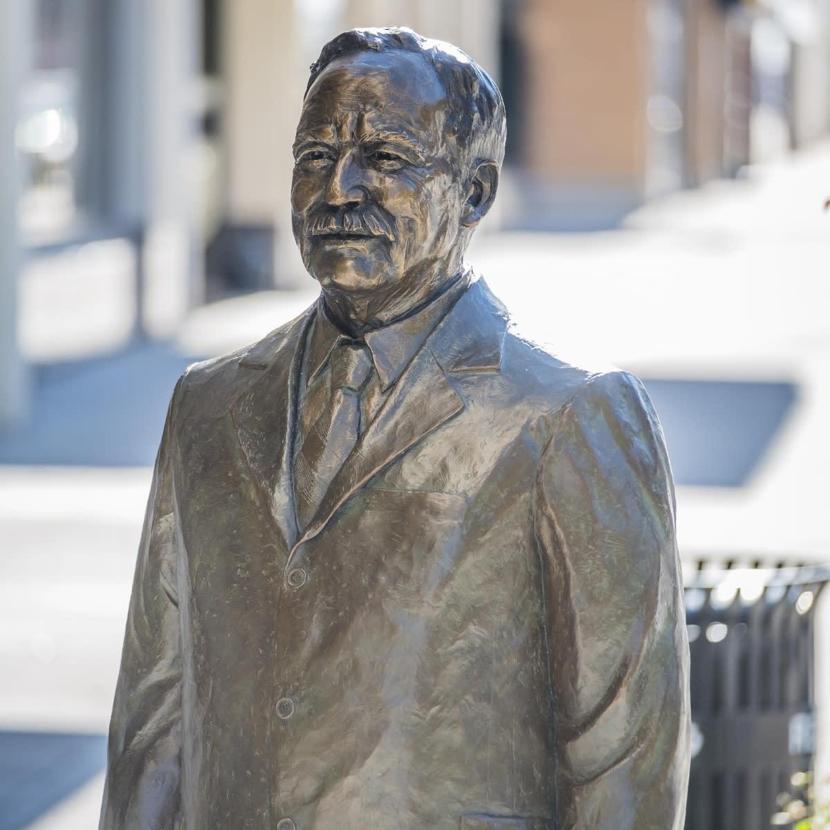 Charles Curtis bronze statute