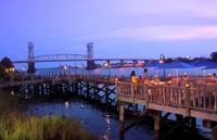 Wilmington Riverwalk and Cape Fear River