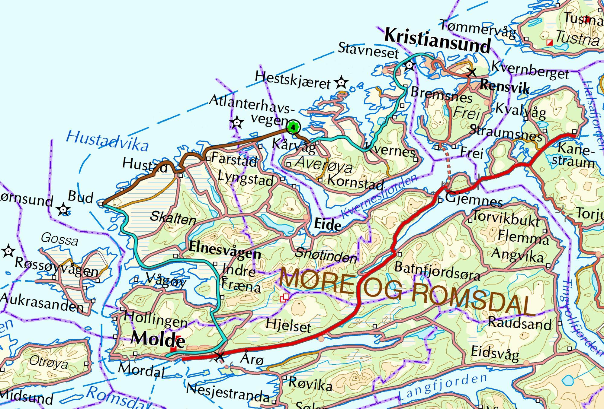 Håholmen-kart
