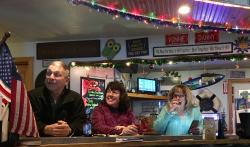Patrons are smiling at Vonnie's Boathouse Bar & Grille