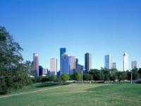 Downtown skyline Buffalo Bayou