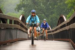 Biking on the Great Allegheny Passage, Ohiopyle
