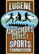 Eugene Cascades Coast-Sports Commission vertical logo