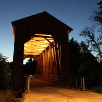 Chambers Railroad Covered Bridge by Traci Williamson