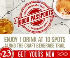 Enjoy 1 drink at 10 spots along the Rochester Craft Beverage Trail