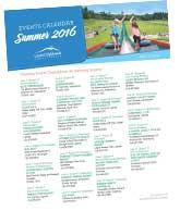 2016 Summer Calendar Of Events