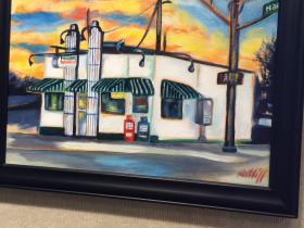Oil Painting of Powers Hamburgers