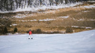 Skiing at Standing Rocks County Park