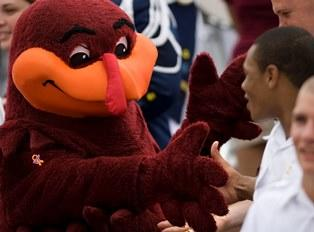 Virginia Tech Hokie Mascot