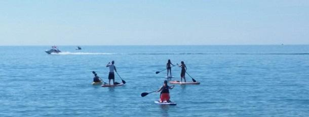 Stand up paddleboarding in GB