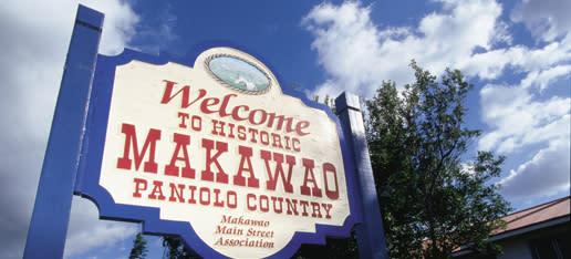Welcome to Makawao, Maui Sign