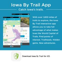 Iowa By Trail App Button