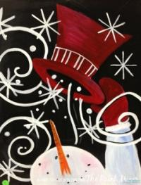 Paint Mixer Snowman