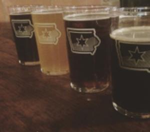 The Iowa Taproom beer flight