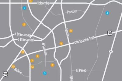 NRG/Medical Center/Rice Village Map