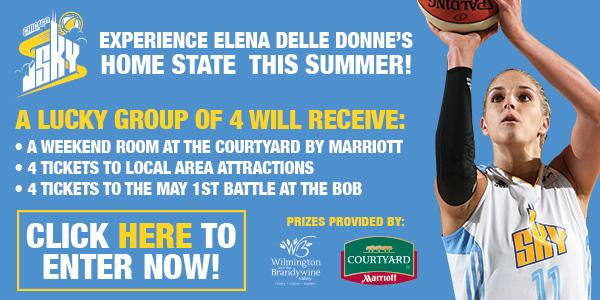 Win a Weekend in Wilmington, Delaware with the Chicago Sky