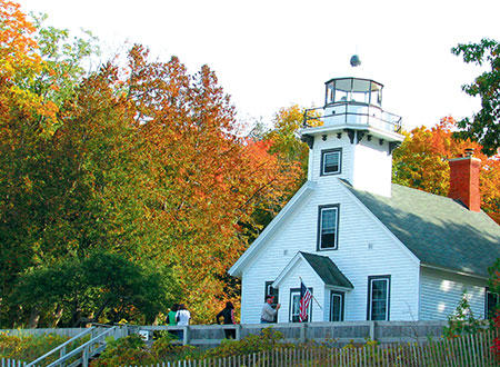 Mission Point Lighthouse Fall
