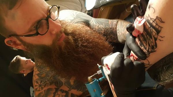 Erik Axel Brunt of Triple Crown Tattoo Parlour