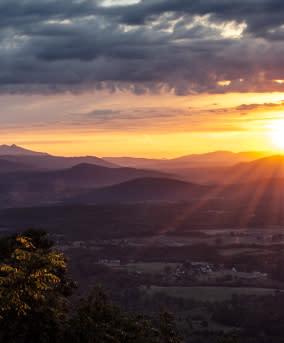 Roanoke Mountain - Cities & Counties