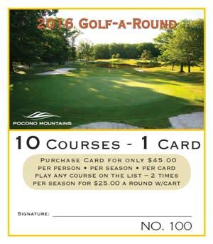 2016 Golf-A-Round Card
