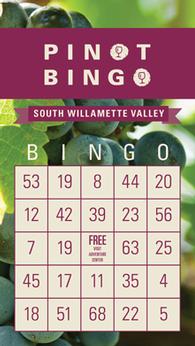 Pinot Bingo Card