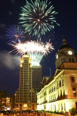 Fireworks Display - Allen County Courthouse - Fort Wayne, IN