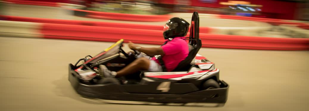 Racing at Autobahn Indoor Speedway in Harrisburg, PA