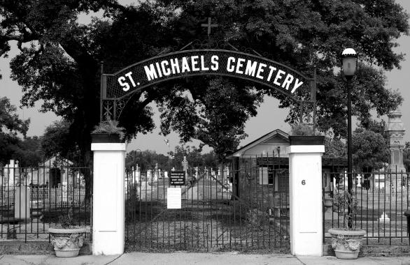St. Michael's Cemetery entry gate