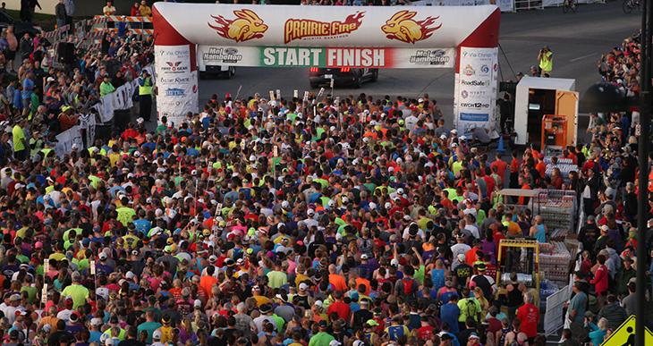 Prairie Fire Marathon Start Finish Line