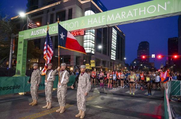 Austin Marathon & Half Marathon Starting Line Courtesy of Stacey Conley
