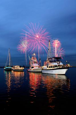 Lighted Boat Parade with Fireworks