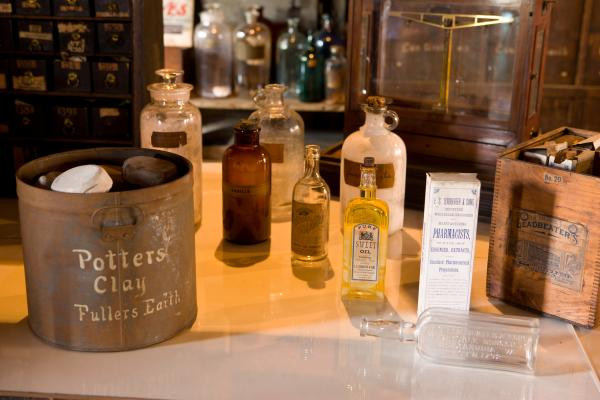 Products from the Stabler-Leadbeater Apothecary Shop