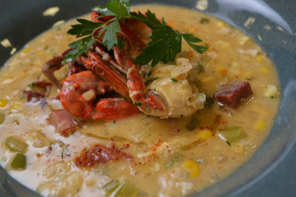 Crab-Corn Soup with Tasso Ham by Flip My Food.