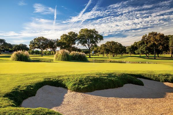 Courtesy Tapatio Springs Hill Country Golf Resort hole 9 with bunker