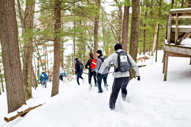 Competitors on Winter Adventure Race