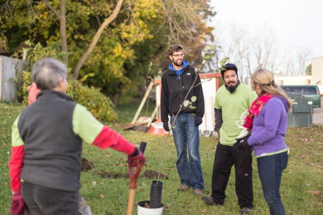 Volunteers at Urban Forest Project