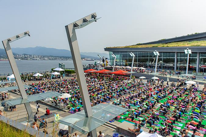 Nooner Yoga at the Vancouver Convention Centre