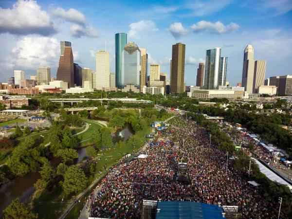 4th of July Festival over Texas
