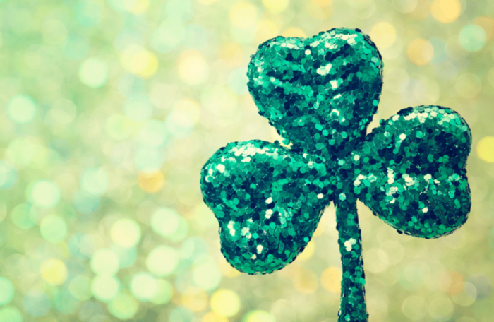 Glittery green shamrock from Meg O'Malley's in Melbourne FL